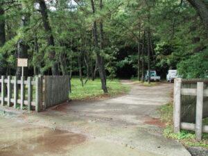 開かれていた海岸側の出入口、御塩殿神社(皇大神宮 所管社)