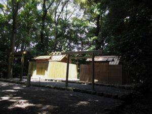 昨日に仮殿遷座を終えた堅田神社(皇大神宮 摂社)