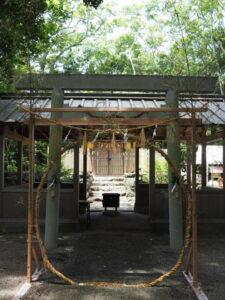 茅の輪、橘神社(伊勢市黒瀬町)