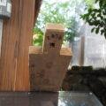 仮殿の賽銭箱に立て掛けられていた材、一色神社(伊勢市一色町)