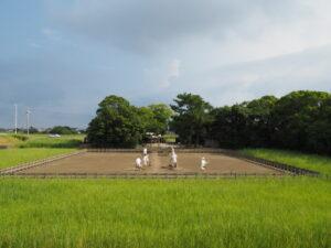採鹹作業が始まっていた御塩浜(伊勢市二見町西)