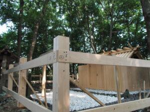 二回目の修繕工事、御食神社(豊受大神宮 摂社)