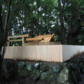 地元寄進による修繕工事が進められる御食神社(豊受大神宮 摂社)