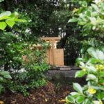 鳥居が建てられた堅田神社(皇大神宮 摂社)