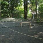 仮殿の準備が始まっていた宇須乃野神社(豊受大神宮 摂社)