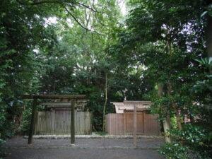 仮殿が建てられた宇須乃野神社(豊受大神宮 摂社)