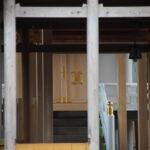 本殿の御扉が取り付けられた一色神社(伊勢市一色町)