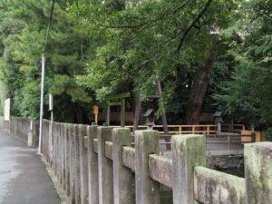 地元寄進による二回目の修繕工事中、御食神社(豊受大神宮 摂社)