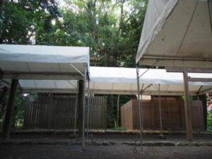 仮殿遷座の朝、宇須乃野神社(豊受大神宮 摂社)