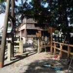 鳥居の建て替え工事が始まった御食神社(豊受大神宮 摂社)